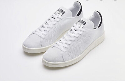 Adidas Stan Smith OG Primeknit White Navy Excellent Condition Uk 9 RRP £85