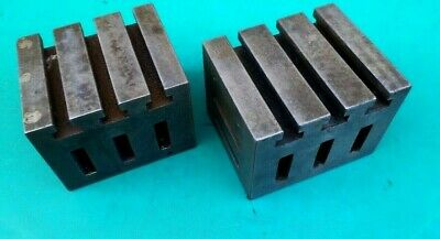 """ENGINEERS  PAIR OF CAST IRON CUBES 6"""" x 5"""" x 4-5/8"""""""