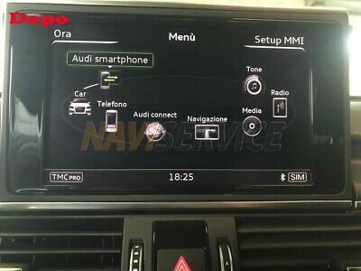 Audi smartphone interface  Apple Carplay  AndroidAuto  ASI  A6 A7 Q7