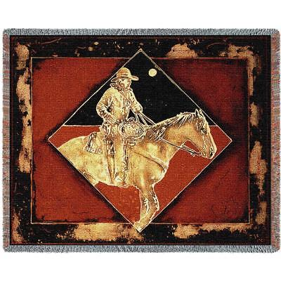 Throw Tapestry Afghan - Late Night Pony Express 4361