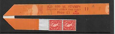 Wilding - ½d phosphor - G 480 coil leader + 5 stamps - roll 11 - unmounted mint