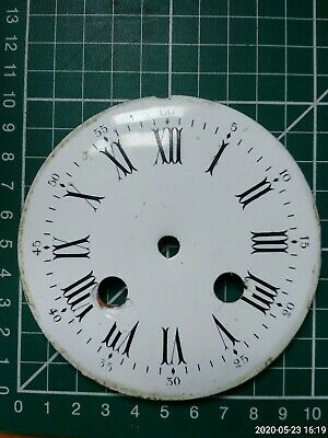 "Vintage French small mantel clock 4""enamel dial/face for spares/repairs/parts"