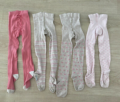 4 Pairs Of Girls Tights 3-4 Years
