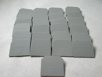 Lot of 25 NNB Connectwell EP-25-U Terminal Block End Plates