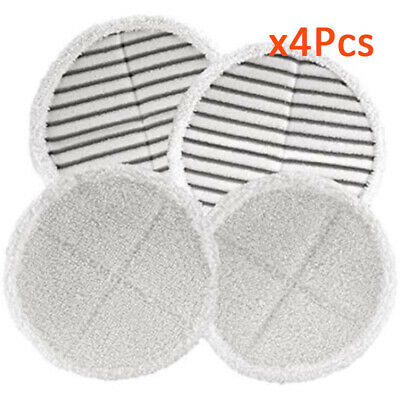 New 4x Mop Pads For Bissell Spinwave 2039A / 2124 Powered Hard Floor Mop Use