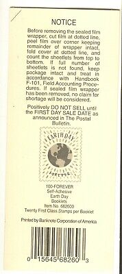 Usps 2020 Earth Day Booklet Stamp Deck Top Card Mint Condition