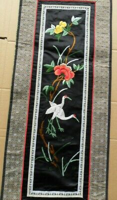 Chinese 100%Hand embroidered Peking Embroidery Art:flower&cranes  screen