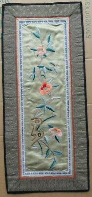 Chinese 100%Hand embroidered Peking Embroidery Art:flower screen