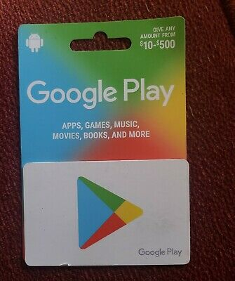 Google Play 500 USD Gift Card apps, games, music, movies, books and more