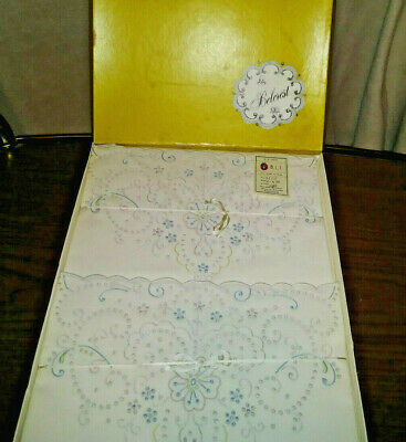 NEW  Belcrest Embroidered Pillowcases Standard size Madeira Maid