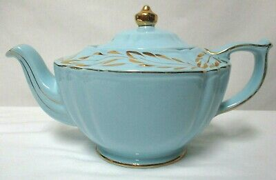 Sadler England Vintage blue gold hand painted Teapot #2423 Collectible Numbered