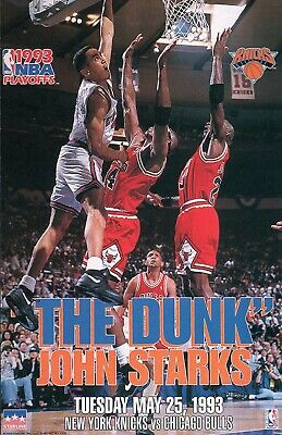 "ORIGINAL STARLINE John Starks ""The Dunk"" NY Knicks Poster OOP 23X35 FULL SIZE"