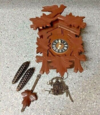 Vintage Regula Cuckoo Clock Black Forest West Germany FOR Parts OR Repair