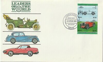 1984 Nevis FDC cover Cars
