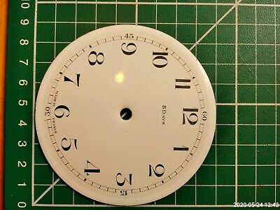 Vintage French small mantel clock enamel dial/face for spares/repairs/parts