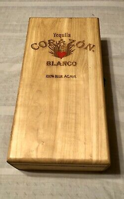 Corazon Tequila Blanco 100% Blue Agave Wooden Box