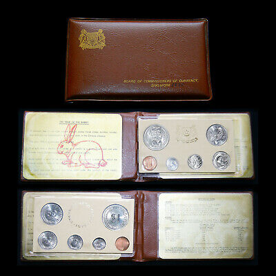 "Singapore 1975 Official ""Year Of The Rabbit"" Uncirculated (6 Coin) Original Set"
