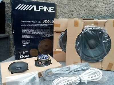 Alpine 6055GD 5.25 Inch Component Car Door Speakers