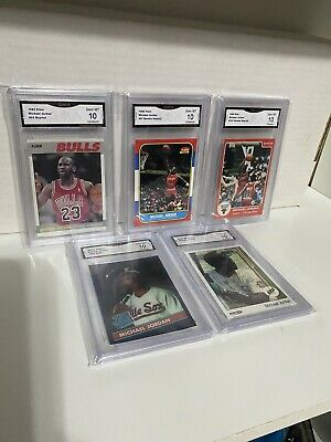 🔥80's Michael Jordan Rookie RP Aceo Lot Graded GMA 10 Gem Mint The Last Dance🔥