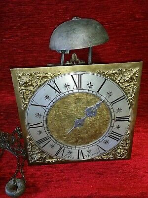 "Giles Thorner 30 hour Clock Movement. Single hand, 10"" brass dial. Circa 1690."