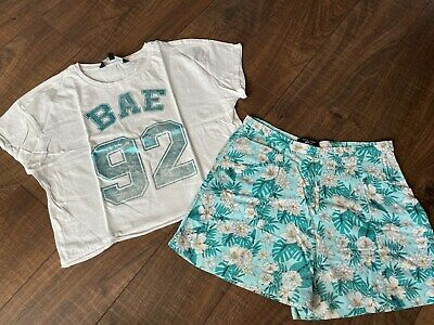 New Look Girls Floral Shorts & Crop T-Shirt Age 14 - 15 Years **L@@K**