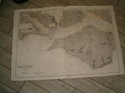 Vintage French Chart 4780 UK - WEST SOLENT AREA 1924 edn