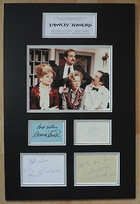 Fawlty Towers - Cleese Booth Sachs & Scales - Autographed Signed Display -Coa