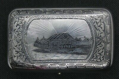 Russian Silver niello box, pre revolution. St Petersburg 1881, 11x 6.5 x3 cm