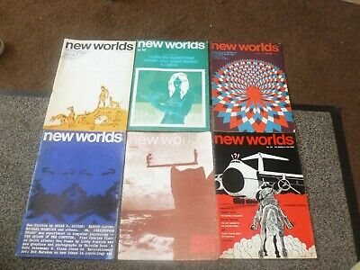 New Worlds vintage magazine bundle x 6  Michael Moorcock Macbeth  Ballard