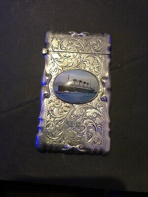solid silver and enamel Card Case The Titanic