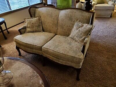 Antique couch, loveseat, and chair
