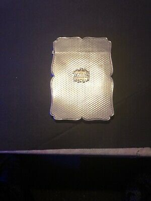 Solid Silver nathaniel mills card Case