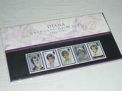 Royal Mail Stamps Diana Princess of Wales 1997 Royalty Lady life of 1990s 1980s