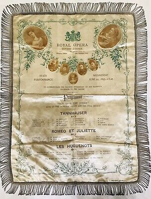 """PROGRAMME ROYAL OPERA COVENT GARDEN """"GOD SAVE THE QUEEN"""" JUNE 23, 1897, at 8.45"""