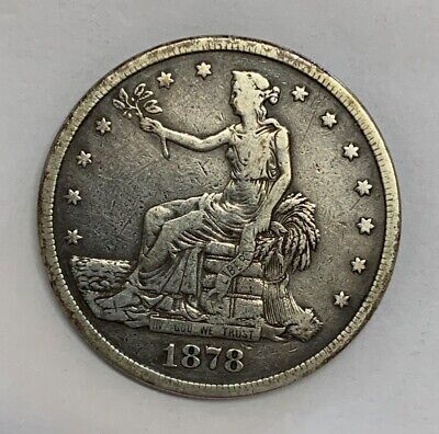 1878-S San Francisco Trade Silver Dollar Fine Details