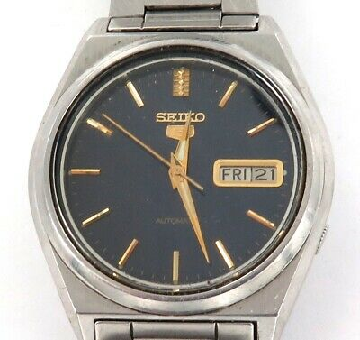 Vintage Seiko 5 Auto 17J Day Date 7009-876A Mens Watch.