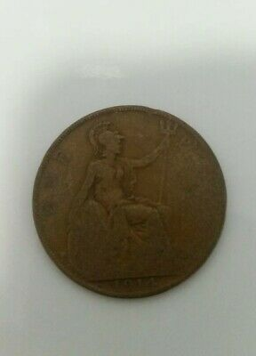 King George V Ww1 One Penny Coin