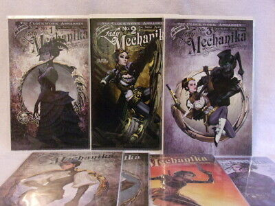 Lady Mechanika  7 Issue Comic Lot By Benitez Productions