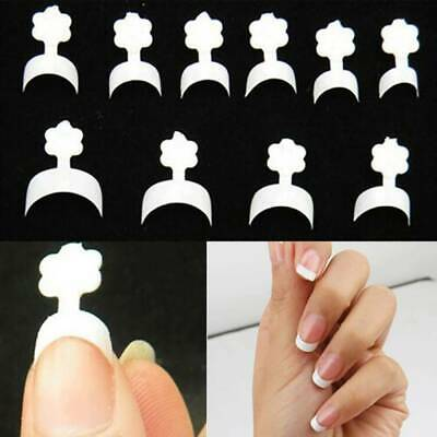 100 Artificial French False Acrylic Nail Art Tips White Clear Natural UV Gel Set