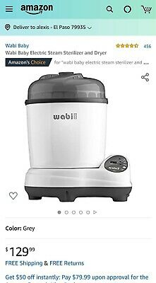 NEW Wabi Baby Electric Steam Sterilizer and Dryer