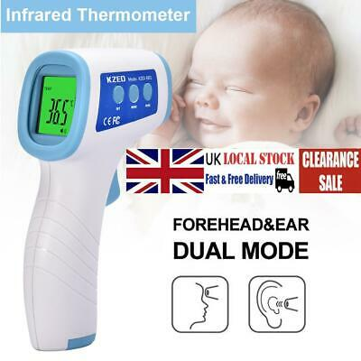 Electronic Thermometer Non-contact Infrared Ear Forehead LCD Baby Child Adult