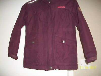 girls jacket bage 7-8 plum colour polyester by Regatta great outdoors