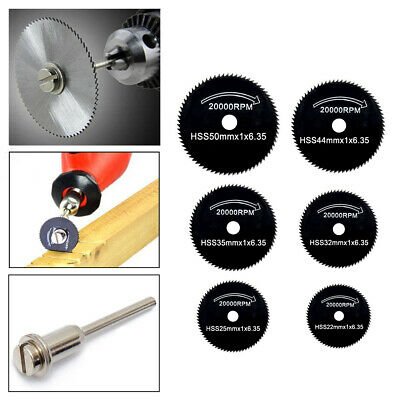 6PCS HSS ​Metal Cutting Disc Angle Grinder Saw Blade Wheel Dremel Rotary Tool