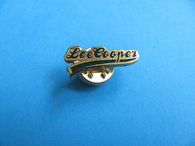 Lee Cooper Brand Jeans Button Pin Badge Enamel VGC