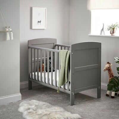 OBaby Grace Mini Cot Bed - Taupe Grey - JUNE OFFERS