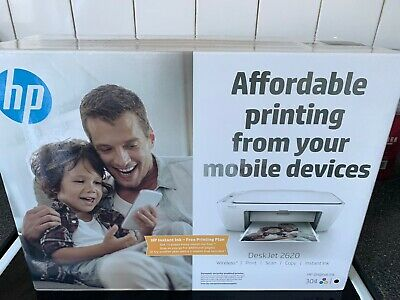 HP DeskJet 2620 All-in-One Wireless Inkjet Printer NEW AND UNOPENED WITH INKS .