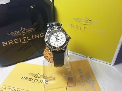 Ladies Breitling j Class Date, 18k Gold bezel Boxed ,booklet and Tags....