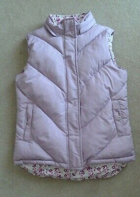Girls GapKids Lilac Purple Floral Reversible Quilted Gilet Bodywarmer 12 Yrs XL