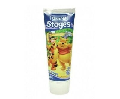 Oral B Stages Toothpaste Winnie The Pooh Berry Bubble 75ml