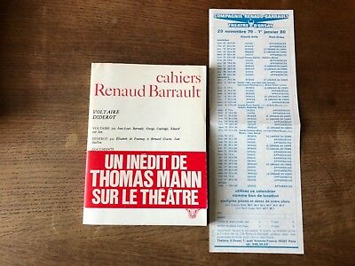 Cahiers Renaud Barrault/98/Voltaire Diderot/Inedit Thomas Mann/Theatre/Programme